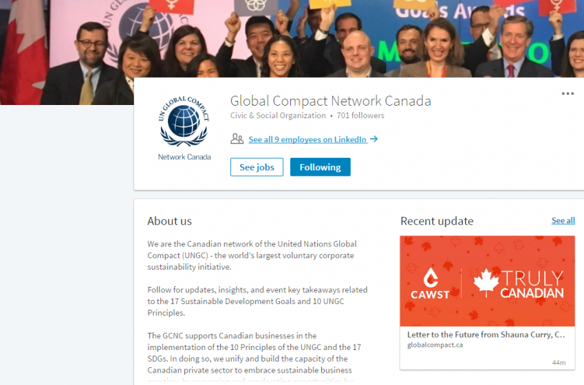 CAWST | CAWST in the News: Global Compact Network Canada