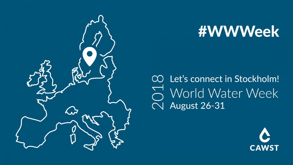 See you at World Water Week 2018