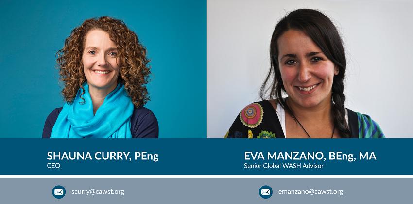 Shauna Curry & and Eva Manzano - CAWST at World Water Week 2019