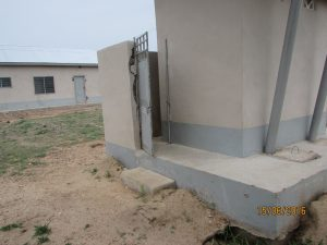 Inaccessible entrance of a school toilet